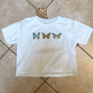 Garage Butterfly Cropped Tee